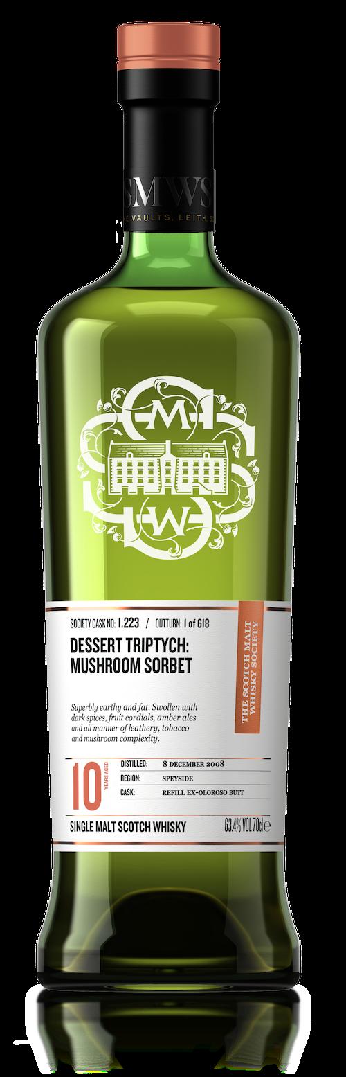 Dessert Triptych : Mushroom Sorbet